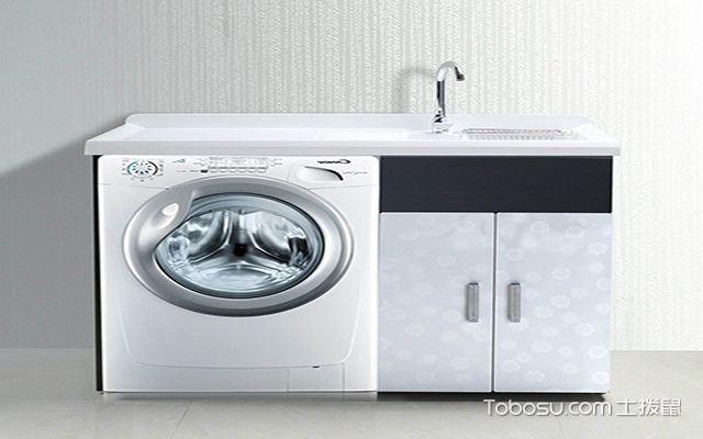 浴室柜洗衣机一体台面