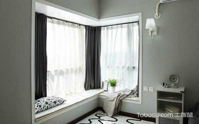 拐角飘窗窗帘怎样安装?装修设计妙招图片