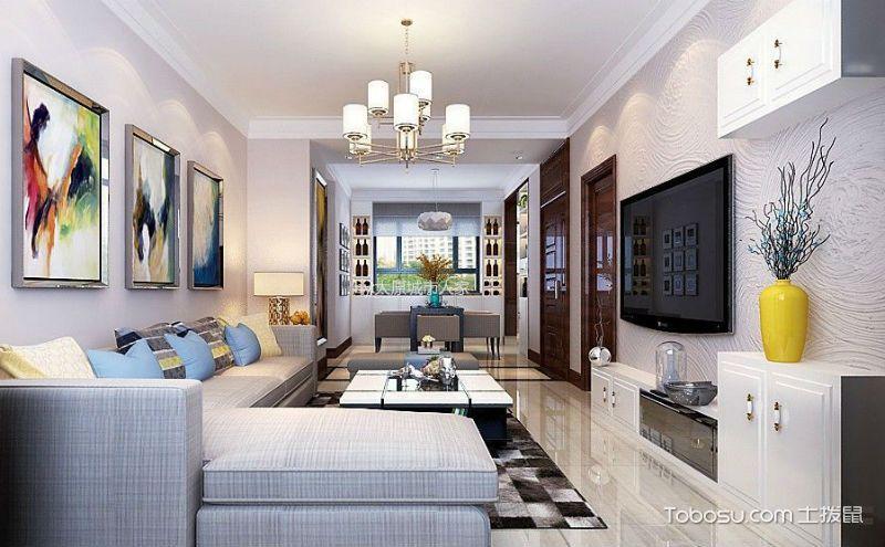 客厅靠墙柜子效果图,节省空间更实用