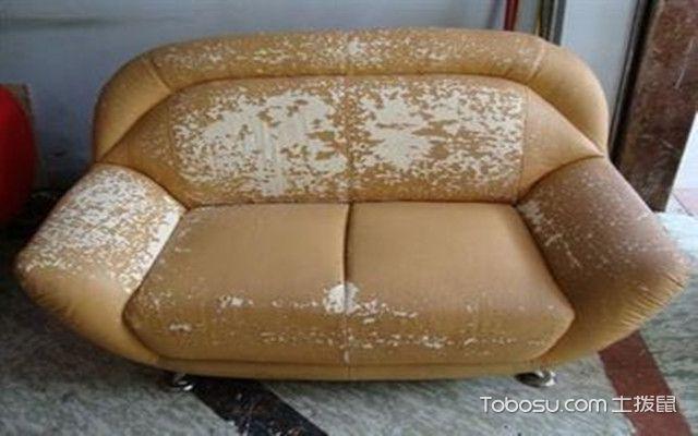 真皮沙发会掉皮吗之掉皮后的样子