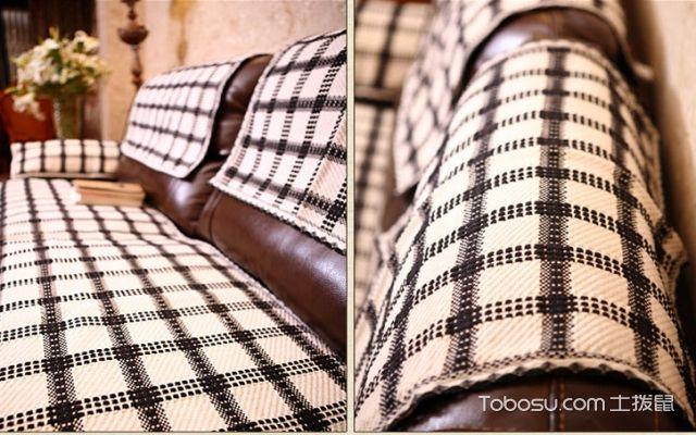真皮沙发怎么搭配
