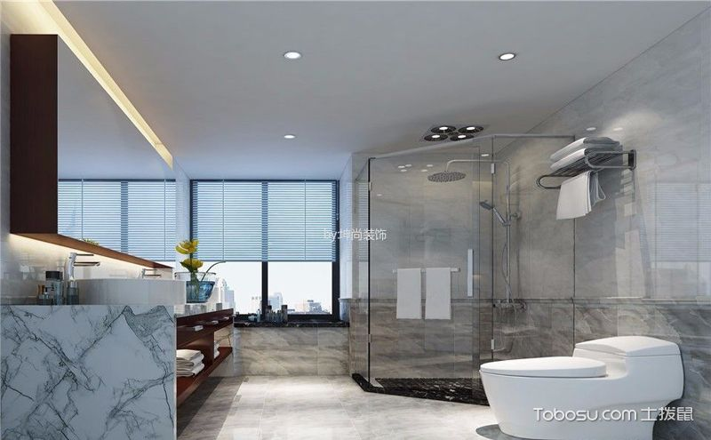 浴室卫生间装修效果图,干湿分离乐享生活