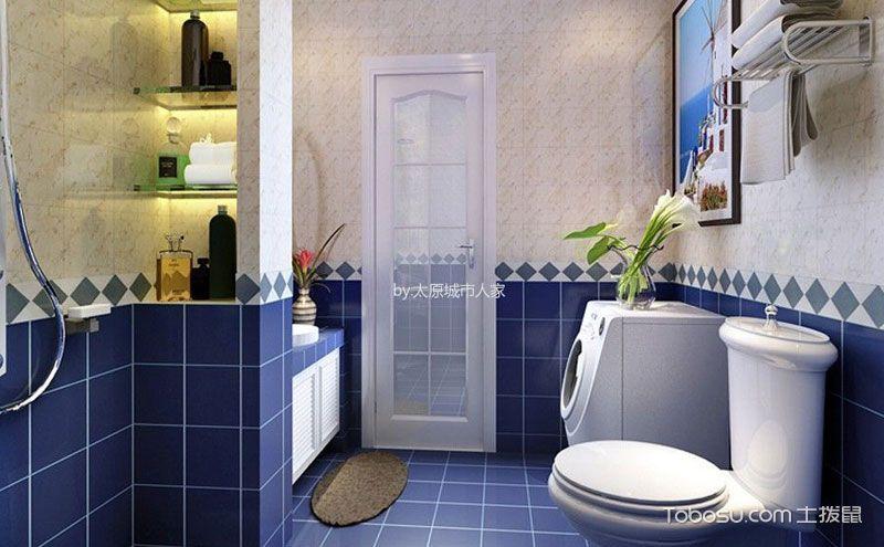 小户型卫生间装修效果图,方寸间的搭配智慧