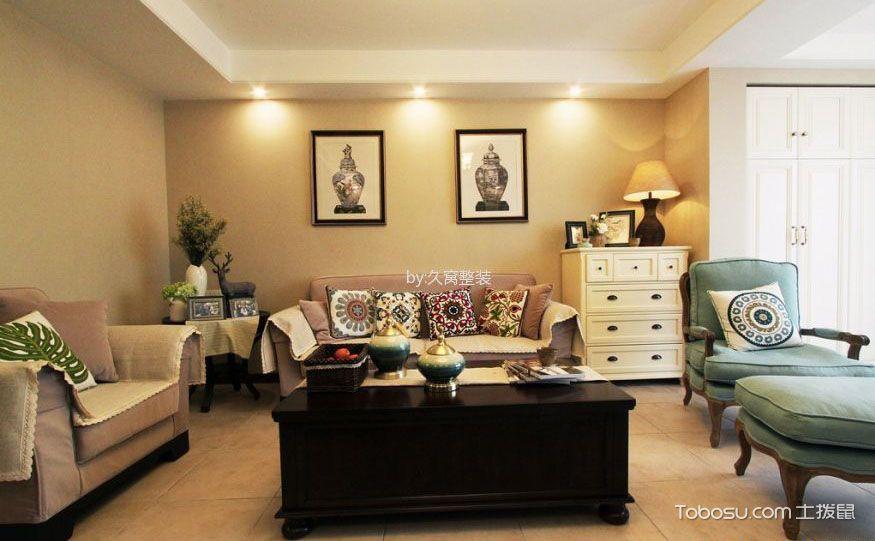 客厅靠墙柜子设计,高颜值加实用才是双赢