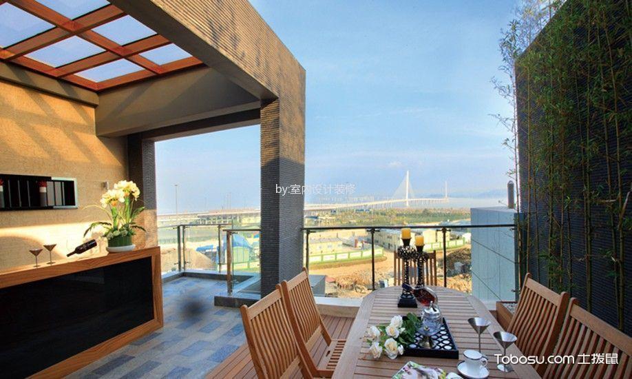 美式顶层别墅阳台柜子