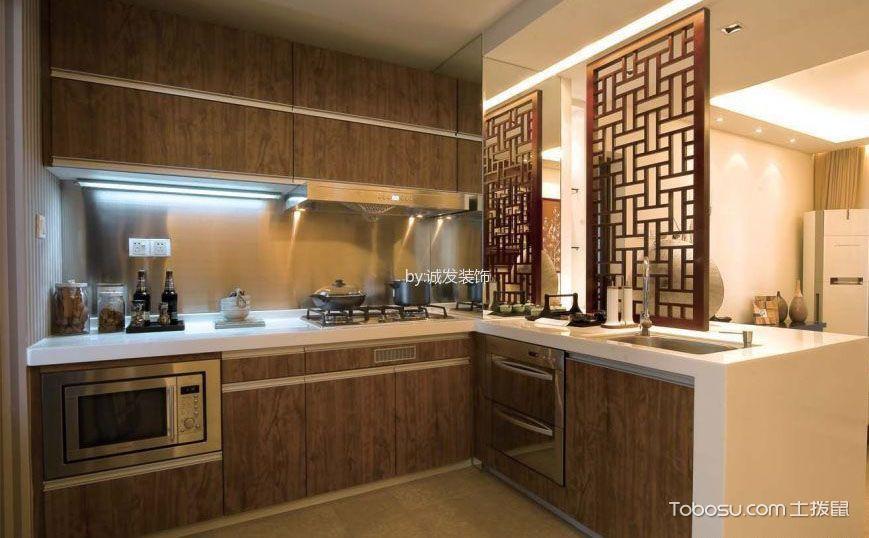 中式厨房效果图,唯美食与传统不可辜负