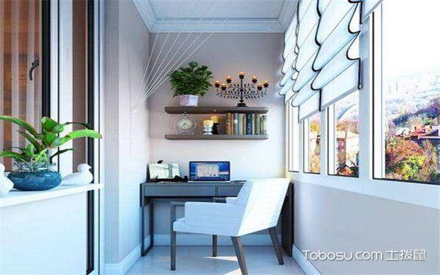 卧室阳台空间巧妙利用之书房