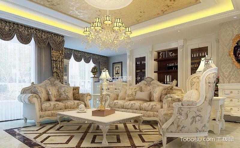 欧式客厅家具设计图,轻奢大气让你耳目一新