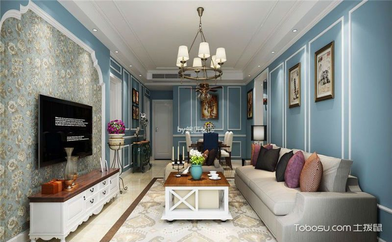 美式客厅家具效果图,带你走进不一样的美式客厅