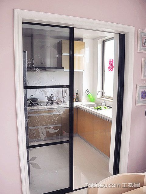 厨房玻璃推拉门