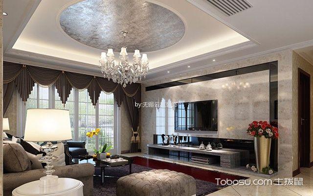 新古典客厅墙壁瓷砖效果图