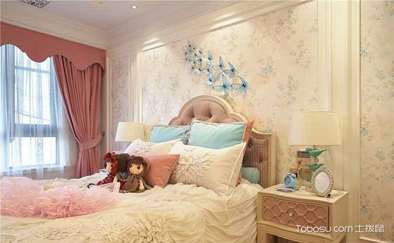 欧式卧室壁纸贴图,静谧优雅由此而来