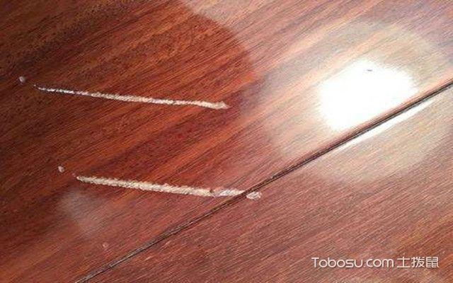 木地板划痕怎么修补之钱划痕修复