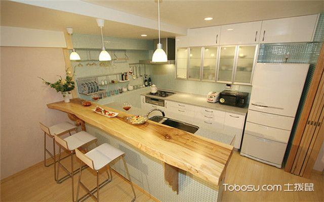 日式厨房装修设计方法之一体化设计
