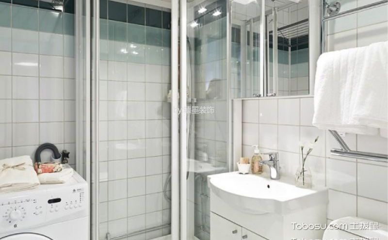 最新小浴室设计效果图,简约清爽最方便