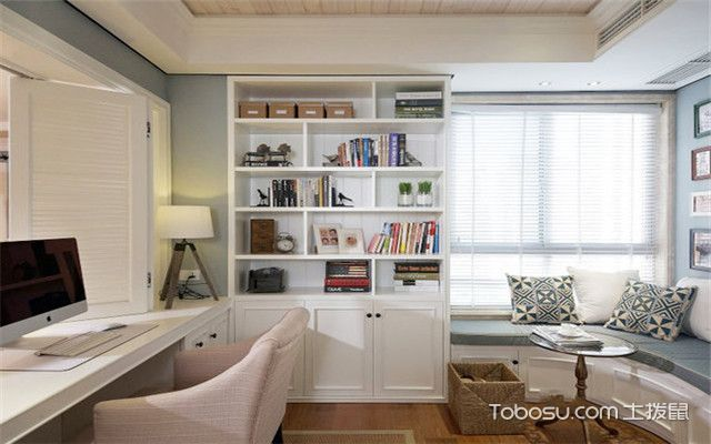 现代美式风格设计说明——书房