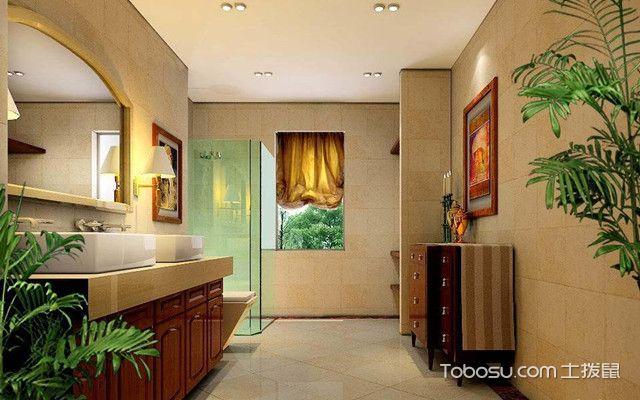 美式风格卫生间的设计要点之色彩搭配