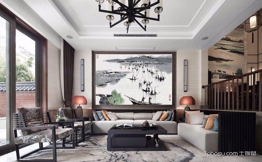 8款中式客厅背景墙装修效果图,素雅与惬意的完美结合