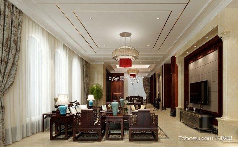 中式客厅吊顶效果图,庄重优雅更迷人图片