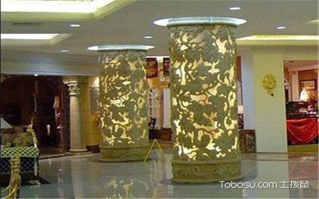 人造石材的用途——商场立柱