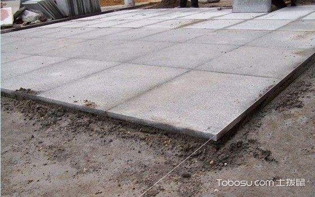 花岗岩地面施工工艺之铺设