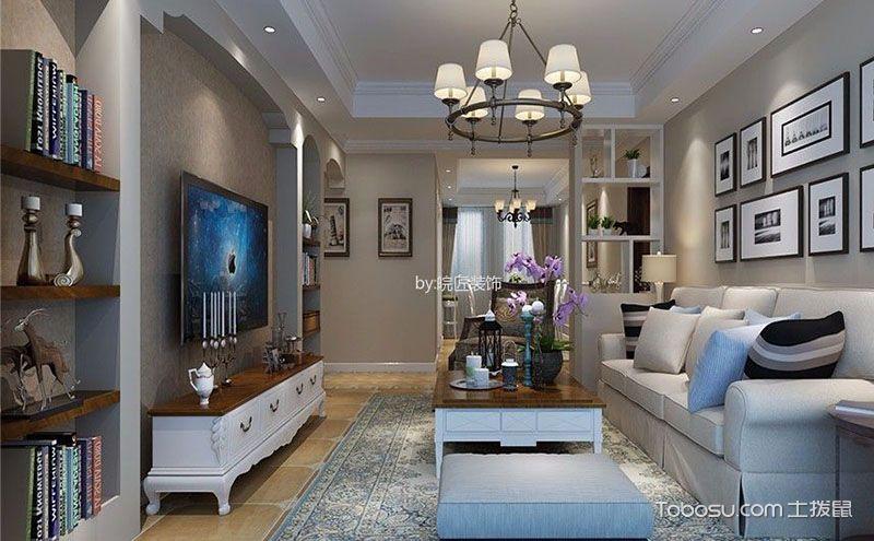 美式简约风格客厅效果图欣赏,不造作不约束