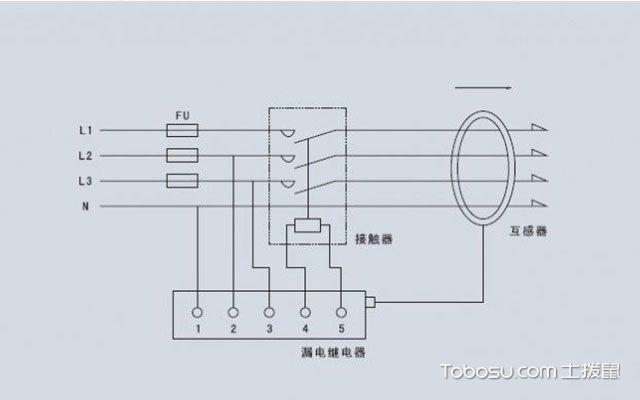 漏电保护开关怎么接线