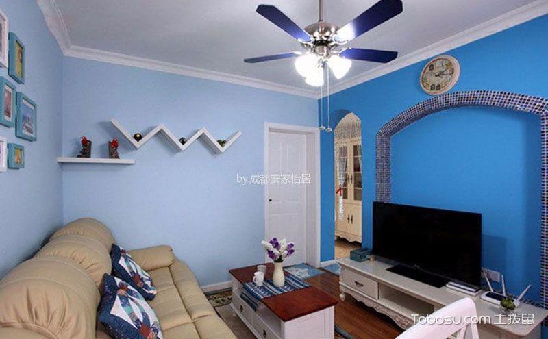三室一厅室内设计图,地中海边的蓝色度假屋