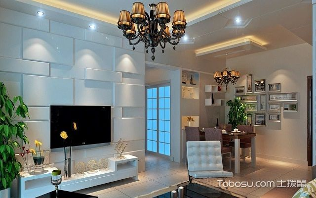 92平米房屋装修电视墙