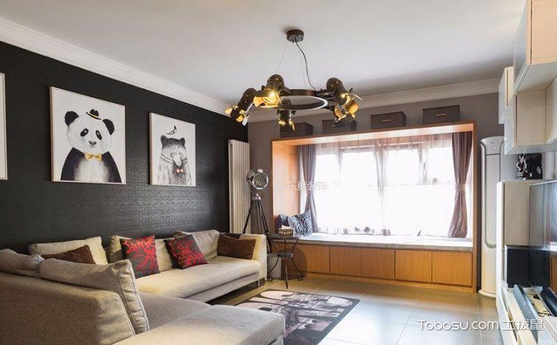 自由工业风现代简约三居室户型图,装饰你的一亩三分地