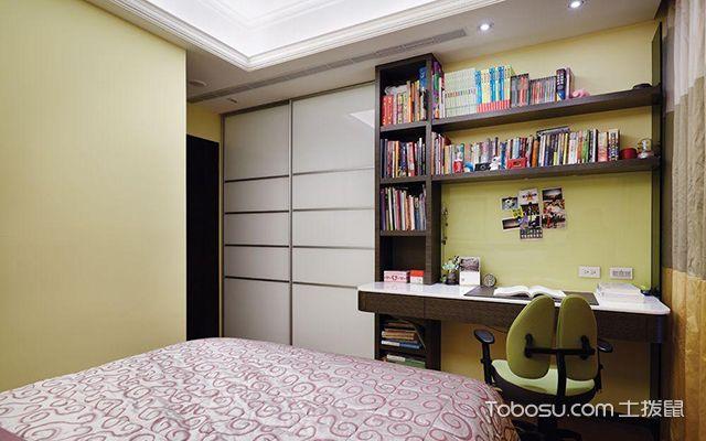 卧室书架效果图