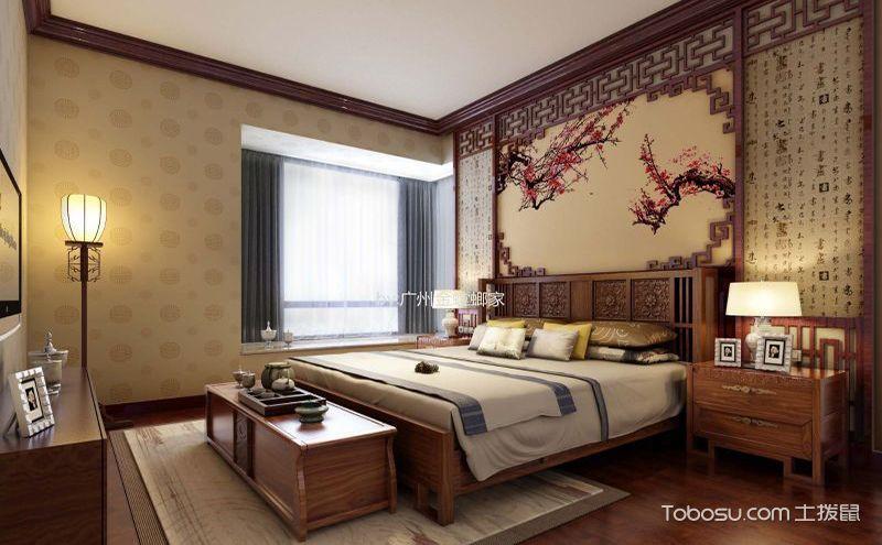 中式卧室壁纸装修效果图,让墙面点亮你的卧室