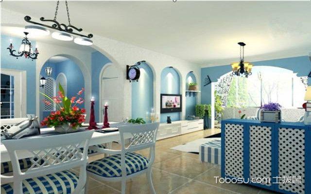 地中海风格软装特点之色彩方案