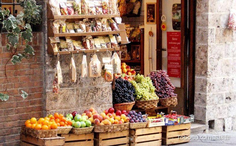 小型水果店装修效果图,高颜值更能带来好生意