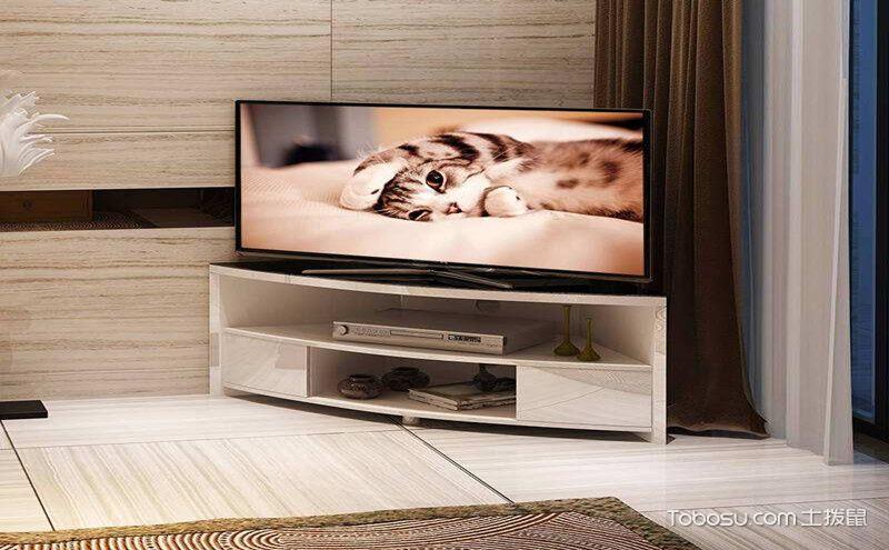 转角电视柜设计图,给人独特的观看视角