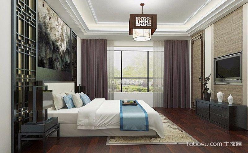 新中式卧室吊顶效果图,营造浪漫轻快的小氛围