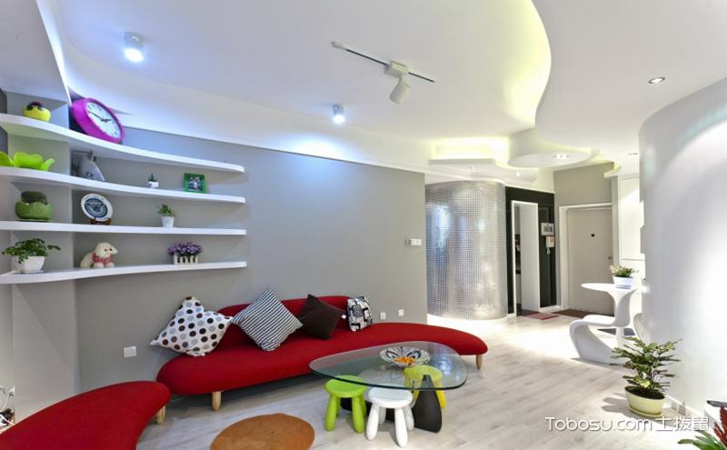 不规则客厅沙发摆放效果图,总有一款适合你家
