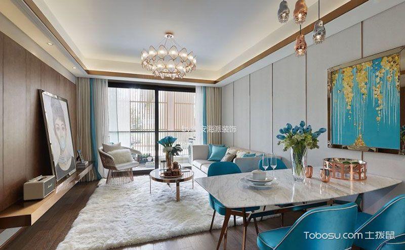 现代简约房屋客厅装修效果图,80后90后的心头好