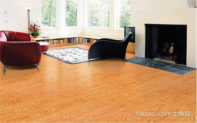 石塑板安装方法之粘贴地板