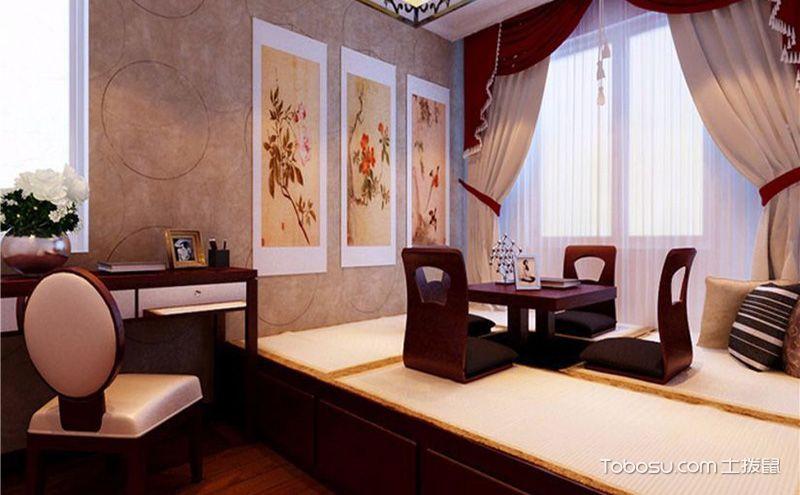 中式卧室榻榻米装修效果图,组合出高格调的设计魅力