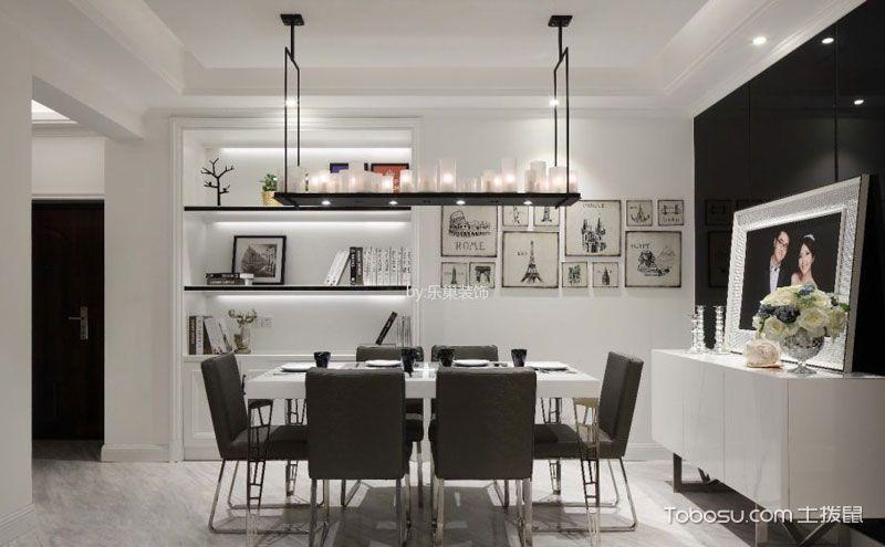 黑白灰餐厅简约风格装修图,领略家装个性之美