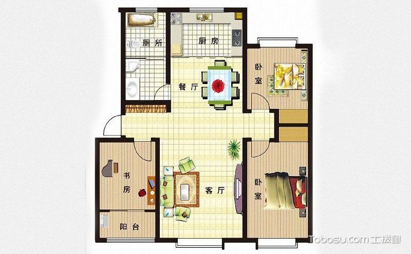 小三居室最好的户型图,温馨有爱有家有你