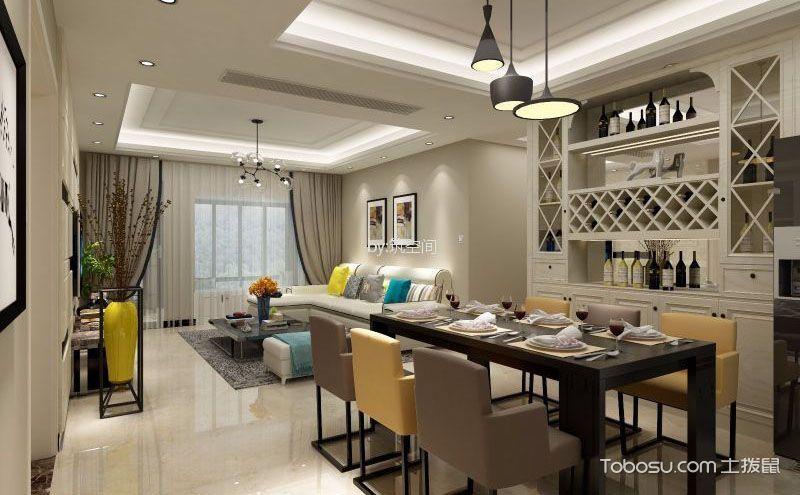 简约风格三居室家装设计案例,深思熟虑的删繁就简
