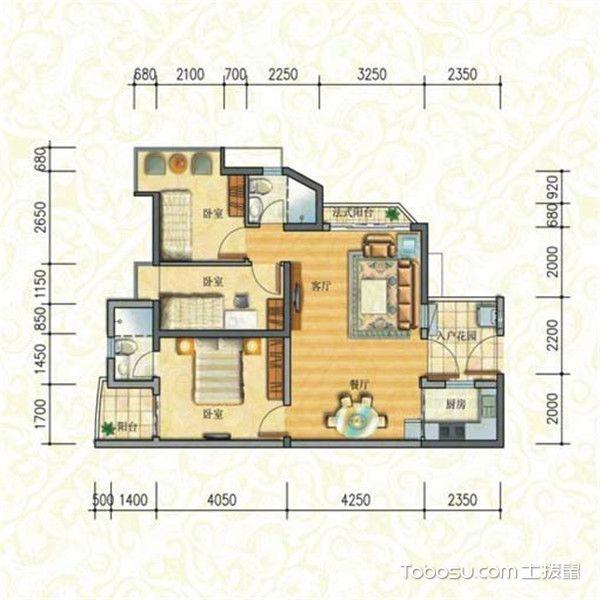 三居室最好的户型图-朝南设计