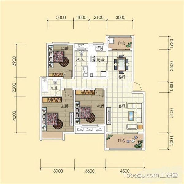三居室最好的户型图-南北通透
