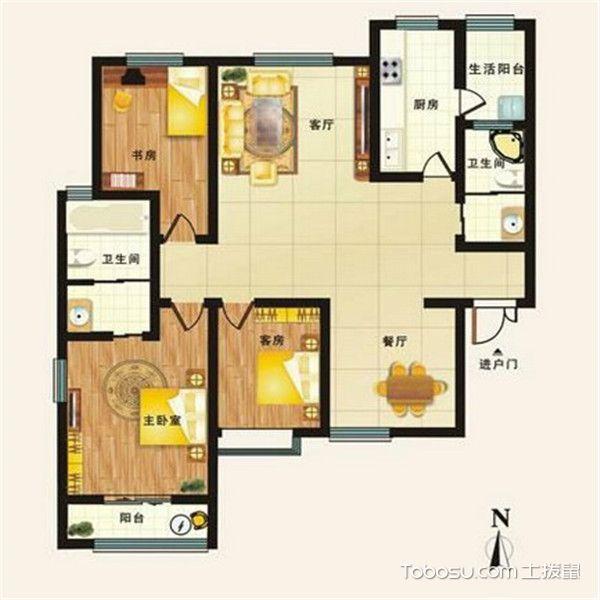 三居室最好的户型图-公共区域大