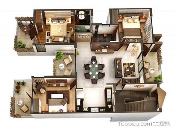 三居室最好的户型图-休闲区多