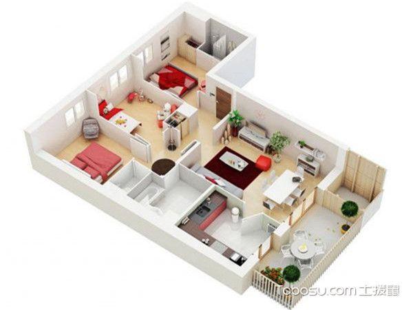 三居室最好的户型图-分区鲜明