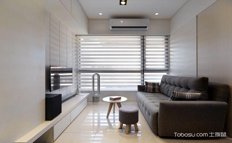 50平小两房装修效果图,极简主义的实用表达
