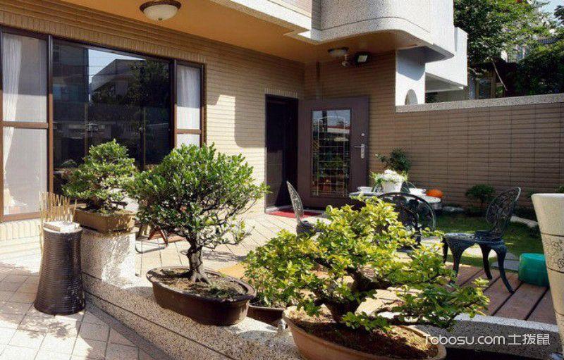 别墅小庭院设计实景图
